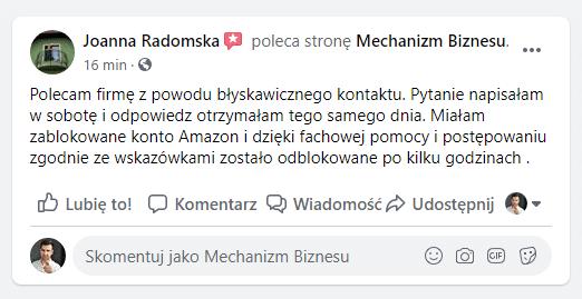 Joanna Opinia Konto Amazon